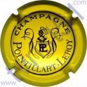 POINTILLART-LEROY : jaune-vif et noir verso or