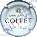 COLLET : blanc et marron Blanc de Blancs inscription contour