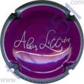 LITTIERE Alain n°09h violet contour argent