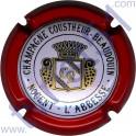 COUSTHEUR-BEAUDOUIN : contour rouge fond pastel