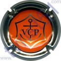 CLICQOT n°155 contour métal fond orange
