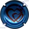 LACOUR E n°10b bleu métallisé et rouge
