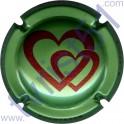 LACOUR E n°10c vert métallisé et rouge