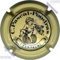 PASCAL-POUDRAS n°07a jaune-crème et noir verso or