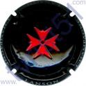 LANSON : estampée creux noir croix rouge vif