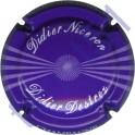 DESTREZ Didier n°22 violet foncé et blanc