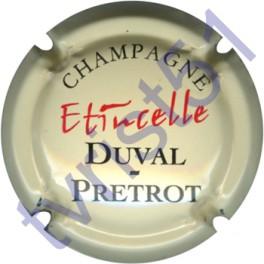 DUVAL-PRETROT : cuvée Etincelle fond crème pâle